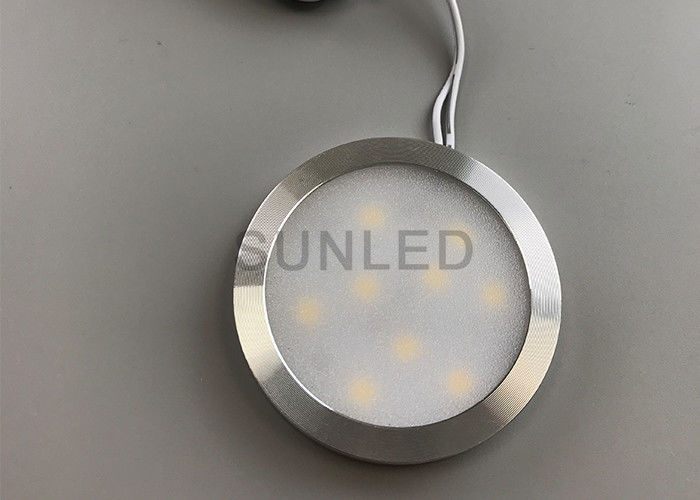 Round LED Under Cabinet Lighting , Recessed Under Cabinet LED Lighting